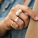 Prsteny s kamenem Perly Slitina Nastavitelná Módní Zlatá Stříbrná Šperky Párty 1ks