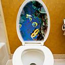3Dの壁のステッカー壁のステッカースタイル水中世界PVCウォールステッカー