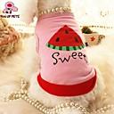 猫用品 / 犬用品 Tシャツ ピンク 犬用ウェア 夏 文字&番号 結婚式 / コスプレ