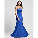 Lanting Bride® Do poda Saten Na vezanje Haljina za djeverušu - Sirena kroj Bez naramenica Plus veličina / Niska građa sDrapirano sa