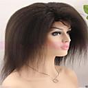 在庫の最高品質の安価な100%バージンブラジル変態ストレート人間の髪の毛のレースのかつらアフログルーレスレースフロントウィッグ