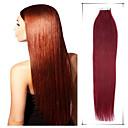 グレード5aは1個/ロット26インチ/ 65センチメートルmulticolorsストレートテープ毛延長に人間の髪の毛は、20歳代/パック3.5グラム/秒を編みます