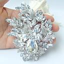 nádherný 4,33 palce silver-tone jasné drahokamu křišťálově květina brož svatební deco svatební kytice