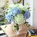 """1 Větev Hedvábí Hortenzie Květina na stůl Umělé květiny 70(27.6"""")"""
