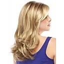 moderan sintetički African American perika duge valovita kosa vlasulja za žene seksi prirodne vlasulje s bangs sw0086