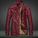 Ležérní Stojací límec - Dlouhé rukávy - MEN - Coats & Jackets ( Bavlna / PU kůže )
