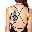 5ks / set nepromokavá modrá pivoňka dočasné tetování nálepka blesk tetování