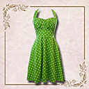 Women's Polka Dots Backless Neck Hanging Dress