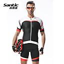 SANTIC® Biciklistička majica s kratkim tregericama Muškarci Kratki rukav BiciklProzračnost / Quick dry / Anatomski dizajn / Ultraviolet