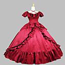 steampunk®victorian crveni saten građanski rat južni Belle prom haljina loptu haljina