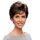 """vypadající načechraný přímý lidský vlas caplesss monofil top (1 """") paruka pro ženy"""