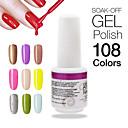 1kpl korkea quaiity kynsien geelilakalla liota pois 9ml Nail Art: UV pitkäkestoisia 108 upea värejä