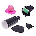 3sets nail stamper scrapers (1set pink+1set green+1set black) Nail Art ukras rhinestone biseri šminka Kozmetički Nail art dizajn