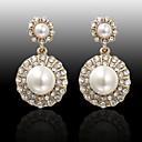 Visací náušnice Perly Slitina Módní Bílá Oranžová Šperky Svatební Párty Denní Ležérní 2pcs