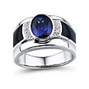 Prstýnky,Stříbro Diamant / imitace Sapphire / imitace Diamond Oval Shape Svatební / Párty / Denní / Ležérní / Sport / N/A ŠperkyStříbro /