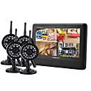 """2.4GHz 4-kanalni DVR Bežični sigurnosni sustav 7 """"TFT LCD monitor sa 4 x Wireless IR kamere"""