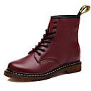 Ženske cipele - Čizme - Ležerne prilike - Umjetna koža - Ravna potpetica - Zaobljene cipele - Crna / Smeđa / Boja vina