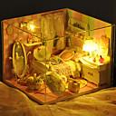 主導のすべての家具ライトランプを含むクリスマスのロマンチックなギフトのおもちゃマニュアルモデルDIYの木のドールハウス