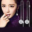 Viseće naušnice imitacija Diamond Moda Elegantno Plastika Kristal Imitacija dijamanta Lopta Pink Jewelry ZaVjenčanje Party Dnevno