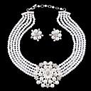 Šperky Náhrdelníky / Küpeler Birthstones Svatební / Párty Perly / Slitina / Štras / Postříbřené 1Nastavte Dámské Svatební dary