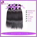 人間の髪編む インディアンヘア ストレート 6ヶ月 3個 ヘア織り