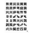 42パターンのネイルアートスタンプスタンプ画像テンプレートプレート