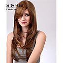 modni kovrčava smeđa boja valovi kvalitetnih sintetičkih kose perika.