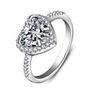 Prstenje,Sterling srebro imitacija Diamond Jewelry Plastika Prstenje sa stavom