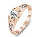 Prstenje Moda Party Jewelry Legura / Kubični Zirconia Žene Klasično prstenje 1pc,Univerzalna veličina Rose Gold