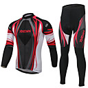 XINTOWN® Biciklistička jakna s hlačama Uniseks Dugi rukav Bicikl Ugrijati / Podstava od flisa / Izolacija / Anti-Fuzz / Pad 3D