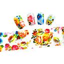 10ks 100cmx4cm barevné květiny třpytky na nehty fólie nálepku kutilství krásy nehtové dekorace nálepka stzxk01-49