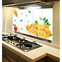 オレンジ色の果実のスタイル防水ホームアートステッカーで壁のステッカー耐油リムーバブルキッチン