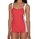 Ženski Bikini - Grudnjak na vezanje - Dvostruka naramenica - Visokog struka / Na točkice - Poliester