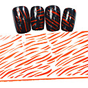 5ks nový 100x4cm 2016 red image třpytky stříbrné pruhy hřebík fólie pro kutily ozdoby nail art samolepky stzxk54