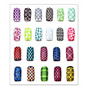 Cvijet-3D Nail akrilni kalupovi- zaPrst / nožni prst-7.5*13cm-1pcs nail sticker templatekom. -PVC