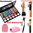 3v1 make-up set (78 barvy 3v1 60 oční stíny 12 rtěnka 6 červeň make-up kosmetické paleta + 1 ruměnec kartáč + 1 kartáč vejce)