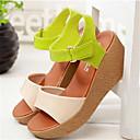 Ženske cipele-Sandale-Aktivnosti u prirodi / Ležerne prilike-Umjetna koža-Platforma-Tenisice platforme-Zelena / Bež