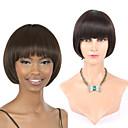 7a Brazilski djevičansko ljudske kose glueless kratki bob ravno perika s baby kose za crne žene