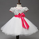 A-kroj Do koljena Haljina za djevojčicu s cvijećem - Organza / Saten / Poliester Kratkih rukava Ovalni izrez s