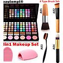 3v1 make-up set (78 barvy 3v1 60 + 12 zakouřený oční stíny 6 červeň make-up kosmetické paleta + 1 ruměnec kartáč + 1 kartáč vejce)