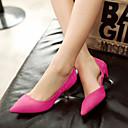 Ženske cipele-Salonke / štikle-Formalne prilike-Brušena koža-Sitna potpetica-Štikle / Špicoke / Cipele zatvorenih prstiju-Crna /