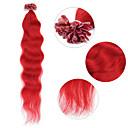 """neitsi 20 """"1g / s keratin fúze u špička hřebu přírodní vlny 100% prodlužování vlasů červená člověk"""