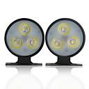 Par dnevno svjetlo svjetla 3 LED velike snage bijeli za auto kamion