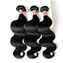 """3 ks hodně 8 """"-28"""" Brazilský panna vlasy tělo wavey zprohýbané přírodní černá lidských svazky vlasy tkát zamotat zdarma prodlužování vlasů"""