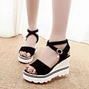 Ženske cipele-Sandale-Formalne prilike / Ležerne prilike-Brušena koža-Puna potpetica-Otvorene salonke / Udobne cipele / Remen oko gležnja-