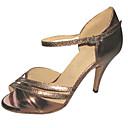 Može se prilagoditi - Ženske - Plesne cipele - Latin / Salsa - Vještačka koža - Prilagođeno Heel - Braon