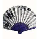 "Classic Hand Fan-Tkanina-Ručni Obožavatelji-Bambus-Azijski Tema / Klasični Tema(Obala)Ljeto 1 ""x9"" x 3/4 ""(2.4cmx23cmx1cm)8 ¼ ""x 14 h ½"""