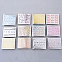 50枚の3DカラフルなデカールステッカーのネイルアートマニキュアのヒントDIYの装飾