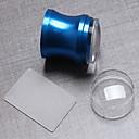 カバー+スクレーパと1個の青色アルミニウム合金シールを3.8センチメートル透明シールヘッド
