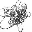 スチールボールチェーンネイルデコレーション(1メートル、盛り合わせ色)